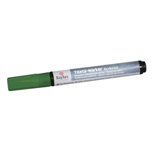 Textil-Marker deckend, Rundspitze 2-4 mm, mit Ventil, blattgrün