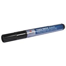Textil-Marker deckend, Rundspitze 2-4 mm, mit Ventil, schwarz