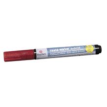 Textil-Marker Glitter deckend, Rundspitze 1-2 mm, mit Ventil, klassikrot