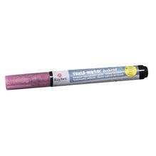 Textil-Marker Glitter deckend, Rundspitze 1-2 mm, mit Ventil, pink
