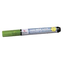 Textil-Marker Glitter deckend, Rundspitze 1-2 mm, mit Ventil, blattgrün