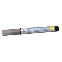 Textil-Marker Glitter deckend, Rundspitze 1-2 mm, mit Ventil, brill.silber