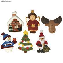 Gießform: Weihnachtszauber, 6 Motive, 5,5-7,5 cm