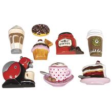 Gießform: Kaffee&Kuchen, 8 Motive, 3-6,5cm, Größe: 23,2x18,3cm