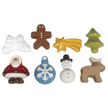 Gießform: Weihnachtsornamente, 8 Motive, 2,5-4,5cm, Größe: 23,2x18,3cm