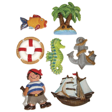 Gießform: lustige Seefahrt, 7 Motive, 6,5-9cm, Größe: 23,2x18,3cm