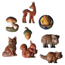 Gießform: Waldtiere, 8 Motive, ca. 5-8cm, Größe: 23,2x18,3cm