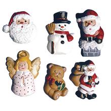 Gießform: Weihnachtsfiguren, 6 Motive