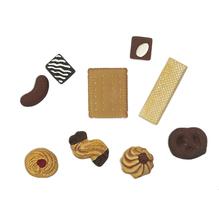Gießform: Miniaturen Gebäck, 9 Motive, 3-8 cm
