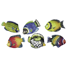Gießform: Fische, 9 cm, 6 Motive