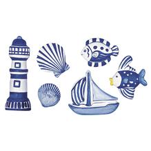 Gießform: Nautica, 3-10 cm, 6tlg., 6 Motive
