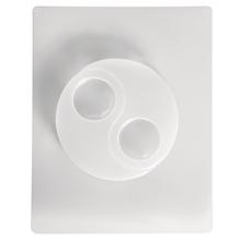 Gießform: Teelichthalter Yin Yang, 2 Motive, 12x8 cm