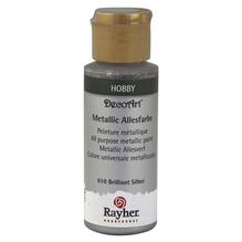 Metallicfarbe, Flasche 59 ml, brill.silber