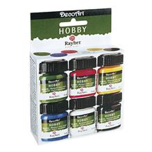 Acryl Hobby-Allesfarben-Set, 6 Farben x15ml, Karton 90ml