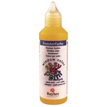 Fensterfarbe easy paint, Flasche 80 ml, maisgelb