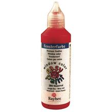 Fensterfarbe easy paint, Flasche 80 ml, feuerrot