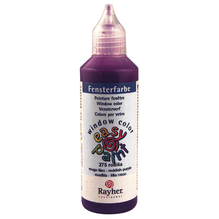 Fensterfarbe easy paint, Flasche 80 ml, rotlila