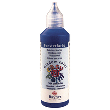 Fensterfarbe easy paint, Flasche 80 ml, ultrablau