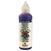 Fensterfarbe easy paint, Flasche 80 ml, pflaume