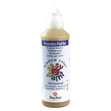 Fensterfarbe easy paint, Flasche 80 ml, haselnuss
