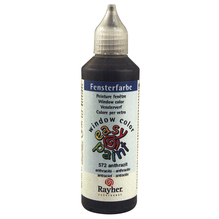 Fensterfarbe easy paint, Flasche 80 ml, anthrazit