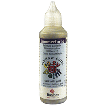 Glimmerfarbe easy paint, Flasche 80 ml, brill.gold