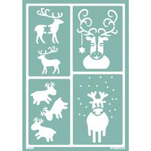 Softschablone: Rudolph, DIN A5, selbstklebend, SB-Btl 1Stück