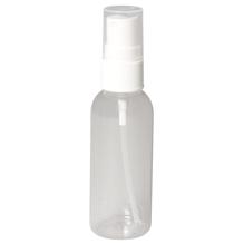 PET Sprühflasche transparent 50 ml, ca. ø 3,1 cm x 11,5 cm, SB-Btl 1Stück