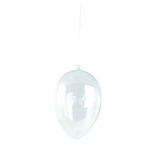 Plastik-Ei, 2tlg, 14 cm, kristall
