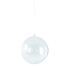 Plastik-Kugel 2tlg., 12 cm ø, kristall