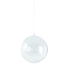 Plastik-Kugel, 2tlg., 16 cm ø, kristall