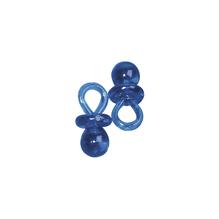 Kunstoffanhänger-Schnuller, 2 cm, SB-Btl. 10 Stück, h.blau