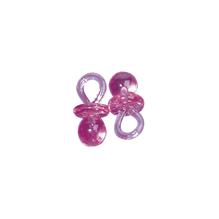 Kunstoffanhänger-Schnuller, 2 cm, SB-Btl. 10 Stück, pink