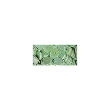 Pailletten, glatt, 6mm ø, SB-Btl 1000Stück, irisierend grün