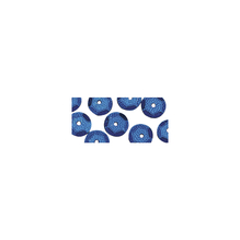 Pailletten, gewölbt, 6mm ø, SB-Btl 4000Stück, d.blau