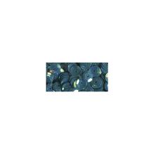 Pailletten, gewölbt, 6mm ø, SB-Box 4000Stück, irisierend blau
