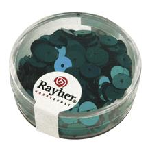 Pailletten, 6 mm, glatt, Dose 6g, waschbar, jade