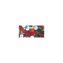 Pailletten, 6 mm, glatt, Dose 6g, waschbar, gemischt