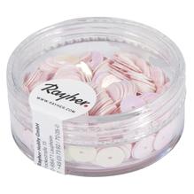 Pailletten, 6 mm, glatt, Dose 6g, waschbar, irisierend rosa