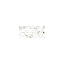 Pailletten, 6 mm, gewölbt, Dose 6g, waschbar, weiß