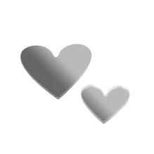 Kunststoffspiegel-Streuteile, SB-Btl. 18 Stück, 2 Größen 2+3 cm, Herzen