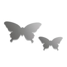 Kunststoffspiegel-Streuteile, SB-Btl. 18 Stück, 2 Größen 2+3 cm, Schmetterling