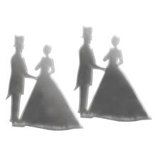 Acrylspiegel-Klebemotiv selbstklebend, 4,5x3x0,1cm, Brautpaar, SB-Btl 2Stück