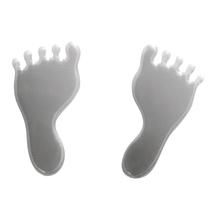 Acrylspiegel-Klebemotiv selbstklebend, SB-Btl. 4 Stück, Stärke 1 mm, 3x1,5 cm, Füße