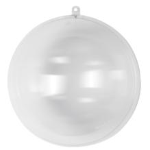 Plastik-Kugel, 2tlg., 20 cm ø, kristall