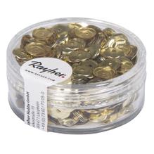 Pailletten, gewölbt, 6mm ø, Dose 6g, gold