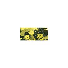 Pailletten, gewölbt, 6mm ø, Dose 6g, oliv