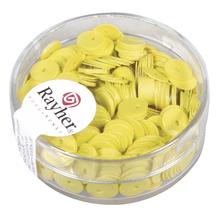 Pailletten, glatt , 6mm ø, Dose 7g, gelb