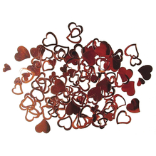 Kunststoff Pailletten Herzen, 7 + 12 mm, SB-Btl 12g, rot