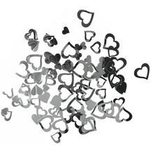 Kunststoff Pailletten Herzen, 7 + 12 mm, SB-Btl 12g, silber